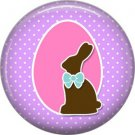 Easter Bunny with Pink Egg 1 Inch Button Badge Pin Pinback Button - 2065