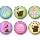 Bunny Love Set of 12 Spring and Easter 1 Inch Scrapbook Flair Medallions - Set 3