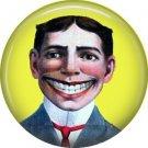 Funny Face Steeplechase Logo Coney Island New York NY 1 Inch Americana Button Badge Pin - 0426