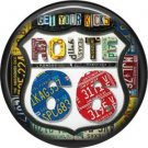 Get Your Kicks Route 66 1 Inch Americana Button Badge Pinback - 0416