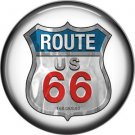 Route US 66 Sign 1 Inch Americana Button Badge Pinback - 0417