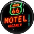 Route 66 Motel Vacancy Sign 1 Inch Americana Button Badge Pinback - 0419