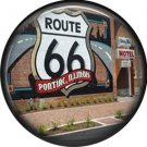 Route 66 Pontiac Illinois 1 Inch Americana Button Badge Pinback - 0420