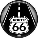Route 66 Road 1 Inch Americana Button Badge Pinback - 0421