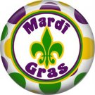 Mardi Gras  Fleur De Lis 1 Inch Button Badge Pin Pinback Button - 0067