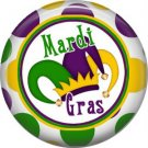 Mardi Gras Jesters Hat 1 Inch Button Badge Pin Pinback Button - 0068