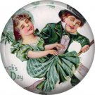 Irish Children Dancing, St. Patricks Day 1 Inch Pinback Button Badge  - 0433