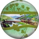 1 Inch Scenic View of Ireland Ephemera Lapel Pin, St. Patricks Day Button Badge  - 0443