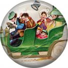 1 Inch Off We Go in Our Green Automobile Ephemera Lapel Pin, St. Patricks Day Button Badge  - 0449