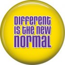 Different is the New Normal, Autism Awareness 1 Inch Pinback Button Badge - 490