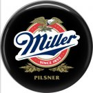 Miller Pilsner Beer, 1 Inch Food and Drink Pinback Button Badge - 0409