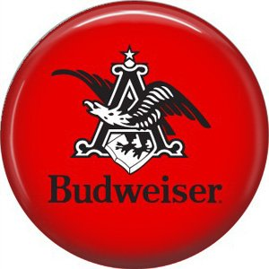 Budweiser Beer, 1 Inch Food and Drink Pinback Button Badge - 0405