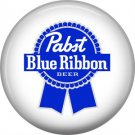 Pabst Blue Ribbon Beer, 1 Inch Food and Drink Pinback Button Badge - 0404