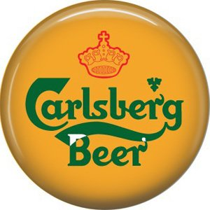 Carlsberg Beer, 1 Inch Food and Drink Pinback Button Badge - 0400