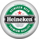 Heineken Beer Premium Quality, 1 Inch Food and Drink Pinback Button Badge - 0398