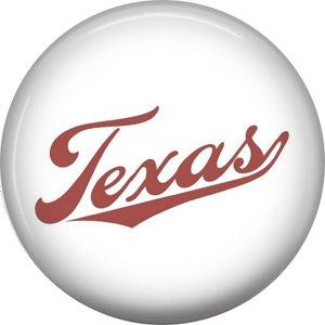 Texas in Script, 1 Inch Texas Pride Pinback Button - 0805