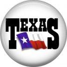 Texas Flag, 1 Inch Texas Pride Pinback Button - 0799