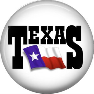 Texas Flag, 1 Inch Texas Pride Pinback Button - 0799