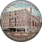 Lost Architecture Columbia Theatre Davenport Iowa 1 Inch Button Badge Pin