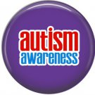 Autism Awareness on Purple, Autism Awareness 1 Inch Button Badge Pin - 0528