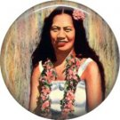 Young Hawaiian Girl, One Inch Vintage Hawaiian Image on Ephemera Lapel Pin Button Badge - 0918