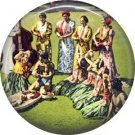 Welcome, One Inch Vintage Hawaiian Image on Ephemera Lapel Pin Button Badge - 0919