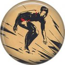 Mid Century Surfer Image  on One Inch Ephemera Lapel Pin Button Badge - 0965