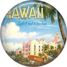 Mid Century Hawaii Postcard on One Inch Ephemera Lapel Pin Button Badge - 0944