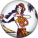 Vintage Hawaii Image on 1 Inch Pinback Button Badge Pin - -0927