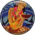 Vintage Hawaii Image on 1 Inch Pinback Button Badge Pin - -0934