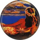 Vintage Hawaii Image on 1 Inch Pinback Button Badge Pin - -0942