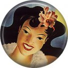 Vintage Hawaii Image on 1 Inch Pinback Button Badge Pin - -0951