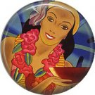 Vintage Hawaii Image on 1 Inch Pinback Button Badge Pin - -0960