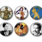 Set of 12 Vintage Hawaiian Images on 1 Inch Pinback Button Badge Pins - Set 3