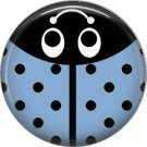 Light Blue Ladybug, 1 Inch Button Badge Pinback - 2524