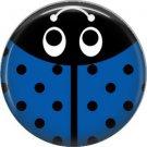 Dark Blue Ladybug, 1 Inch Button Badge Pinback - 2523