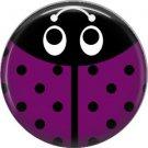 Purple Ladybug, 1 Inch Button Badge Pinback - 2521