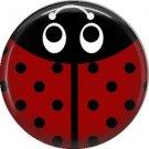 Red Ladybug, 1 Inch Button Badge Pinback - 2515