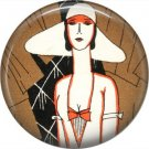 Art Deco Girls, 1 Inch / 25.4 mm Button Badge Pin Back - AD13