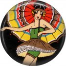 Art Deco Girls, 1 Inch / 25.4 mm Button Badge Pin Back - AD17