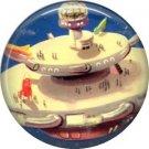 Space City, Retro Future 1 Inch Button Badge Pin - 0640