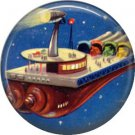 Living in Space, Retro Future 1 Inch Button Badge Pin - 0644
