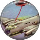 Refueling in Mid Air, Retro Future 1 Inch Pinback Button Badge Pin - 0648