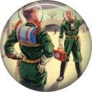 Space Men, Retro Future 1 Inch Pinback Button Badge Pin - 0651