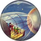 Traveling to Distant Planets, Retro Future 1 Inch Pinback Button Badge Pin - 0656