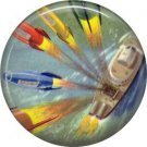 Firing Missles, Retro Future 1 Inch Pinback Button Badge Pin - 0660