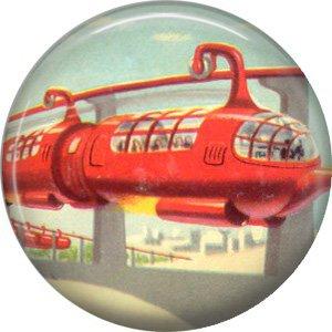 Public Transportation, Retro Future 1 Inch Pinback Button Badge Pin - 0663