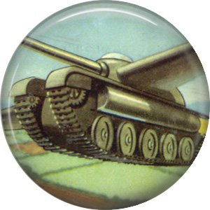 Flying Tank, Retro Future 1 Inch Pinback Button Badge Pin - 0664