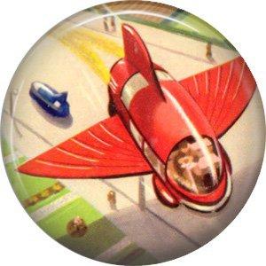 Birds Wing Plane, Retro Future 1 Inch Pinback Button Badge Pin - 0667