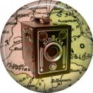 Slomexa Camera, 1 Inch Button Badge Pin of Vintage Image - 0223